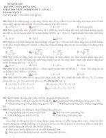 Tài liệu Đề khảo sát chất lượng môn vật lý lớp 10 học kỳ 2 docx