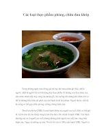 Tài liệu Các loại thực phẩm phòng, chữa đau khớp doc