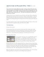 Tài liệu 106 thủ thuật với Microsoft Office_ Phần 1 pptx