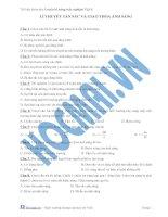 Tài liệu (Luyện thi cấp tốc Lý) Lý thuyết tán sắc và giao thoa ánh sáng_Trắc nghiệm và đáp án docx