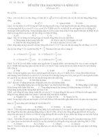 Tài liệu Đề thi kiểm tra dao động và sóng cơ pptx
