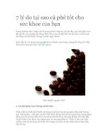 7 lý do tại sao cà phê tốt cho sức khỏe của bạn
