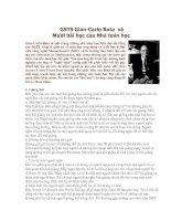 GS carlo rota & 10 bài học của nhà toán học