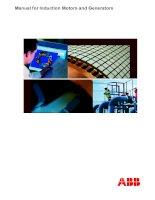 Tài liệu Manual for induction motors and generators ppt