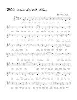 Tài liệu Bài hát mỗi năm độ tết đến - Vũ Thành An (lời bài hát có nốt) pptx