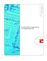 Tài liệu Central Office Implications for Deploying FTTP pdf