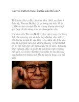 Tài liệu Warren Buffett chọn cổ phiếu như thế nào docx