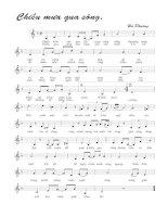 Tài liệu Bài hát chiều mưa qua sông - Hà Phương (lời bài hát có nốt) docx