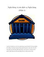 Tài liệu Ngân hàng và các dịch vụ Ngân hàng (Phần 1) pptx