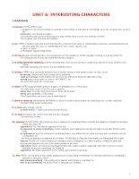 Tài liệu UNIT 6: INTERESTING CHARACTERS doc