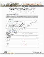 Tài liệu EVERYDAY ENGLISH FROM AUSTRALIA – Series 2.8 ppt