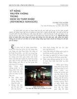 Tài liệu KỸ NĂNG TRUYỀN THÔNG TRONG DỊCH VỤ THAM KHẢO (REFERENCE SERVICES) docx