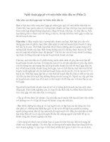 Tài liệu Nghệ thuật gặp gỡ với một thiên thần đầu tư (Phần 2) docx