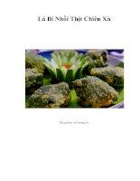 Tài liệu Lá Bí Nhồi Thịt Chiên Xù pdf
