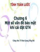 Bài giảng tính toán lưới chương 6 một số vấn đề bảo mật khi cài đặt GT4
