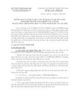 Tài liệu HƯỚNG DẪN LẬP DỰ TOÁN, CẤP, SỬ DỤNG VÀ QUYẾT TOÁN pdf