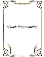 Tài liệu Matlab Programming doc