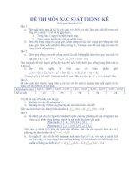 Tài liệu Đề thi xác suất thống kê 2 doc