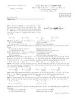 Tài liệu Đề thi trắc nghiệm Vật lí 263 pdf