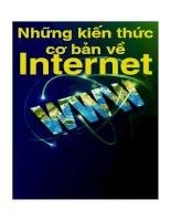 Tài liệu NHỮNG KIẾN THỨC CƠ BẢN VỀ INTERNET Dành cho người mới bắt đầu... pptx
