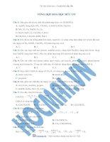 Tài liệu (Luyện thi cấp tốc Hóa) Trắc nghiệm và đáp án Tổng hợp hóa hữu cơ ppt
