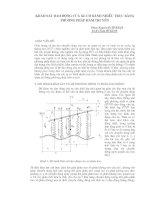 Tài liệu Khảo sát dao động của xe có bánh nhiều trục bằng phương pháp hàm truyền ppt