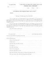 Tài liệu BM.XD.01 - Tờ trình thẩm định thiết kế cơ sở ppt