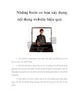 Tài liệu Những bước cơ bản xây dựng nội dung website hiệu quả pdf