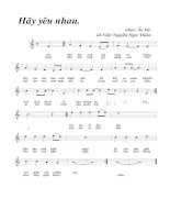 Tài liệu Bài hát hãy yêu nhau - LV Nguyễn Ngọc Thiện (lời bài hát có nốt) docx