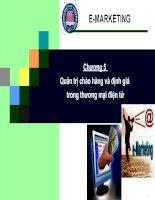 Tài liệu Chương 5: Quản trị chào hàng và định giá trong thương mại điện tử docx
