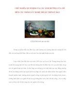 Tài liệu CHỦ NGHĨA ẤN TƯỢNG VÀ CÁC CHỦ NGHĨA ẤN TƯỢNG VÀ CÁC ẢNH HƯỞNG CỦA NÓ ĐẾN CÁC TRÀO LƯU NGHỆ THUẬT THẾ KỶ 20-21 pptx