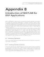 Tài liệu Real-Time Digital Signal Processing - Appendix B: Introduction of MATLAB for DSP Applications docx