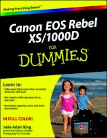 Tài liệu Canon EOS Rebel XS/1000D Fo .Dummies P1 docx