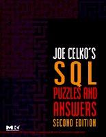 Tài liệu SQL Puzzles & Answers- P1 pdf
