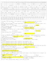 Tài liệu Đáp án bài tập vật lý hạt nhân pdf