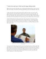 Tài liệu 7 bước cho một quy trình tuyển dụng thông minh pdf