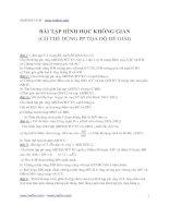 Tài liệu Bài tập hình học không gian (Có thể dùng PP tọa độ để giải) docx