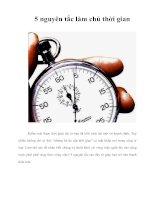 Tài liệu 5 nguyên tắc làm chủ thời gian ppt