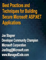 Tài liệu Best Practices and Techniques for Building Secure Microsoft® ASP.NET Applications pdf