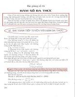 Tài liệu Bài giảng 16: Hàm số đa thức ppt