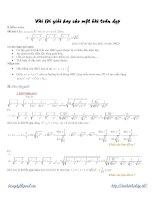 Tài liệu Vài lời giải hay cho một bài toán đẹp pdf