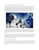 Tài liệu Tìm hiểu nhân tố X trong nghề PR(quan hệ công chúng) ppt