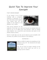 Tài liệu Quick Tips To Improve Your Eyesight ppt