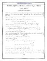 Tuyển tập chuyên đề các bài toán hình học phẳng hay