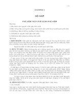Tài liệu CHƯƠNG 3:HÔ HẤP PHẾ VIÊM THÙY PHẾ QUẢN PHẾ VIÊM doc