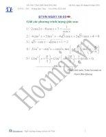 Tài liệu Giải phương trình lượng giác 08.05 (Bài tập và hướng dẫn giải) pdf