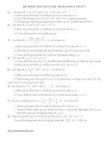Hệ thống bài tập luyện thi đại học môn toán 2013