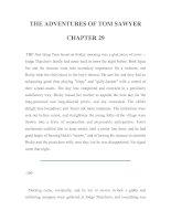 Tài liệu LUYỆN ĐỌC TIẾNG ANH QUA TÁC PHẨM VĂN HỌC-THE ADVENTURES OF TOM SAWYER CHAPTER 29 pptx