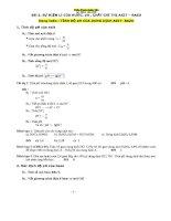 bài tập tính pH của dung dịch chất điện li