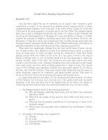 Tài liệu Section Three: Reading Comprehension (3) pdf